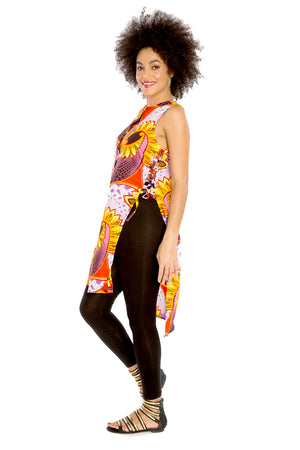 african tunic top vest dress  print fashion wax and wonder