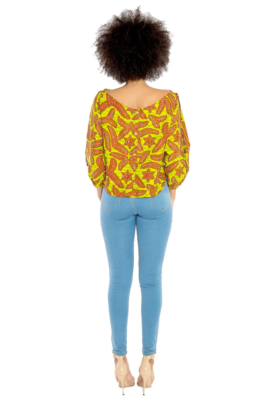 I Have Your Back African Print High Low Top