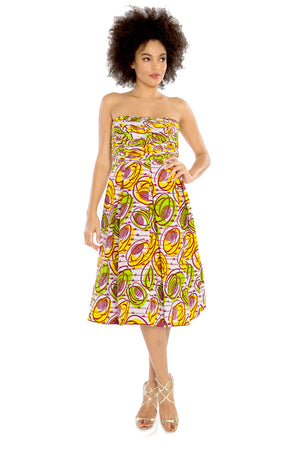 african dresses african print women strapless dress fashion wax and wonder