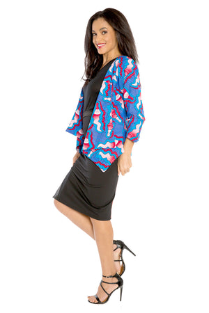I Mix Work and Play African Print Blazer
