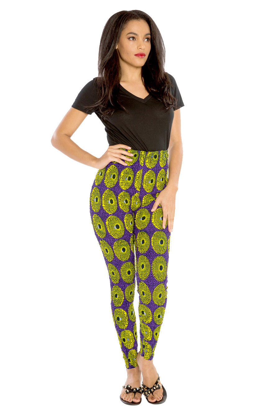 African Pants High-Waisted Afri-Jeggings Pants