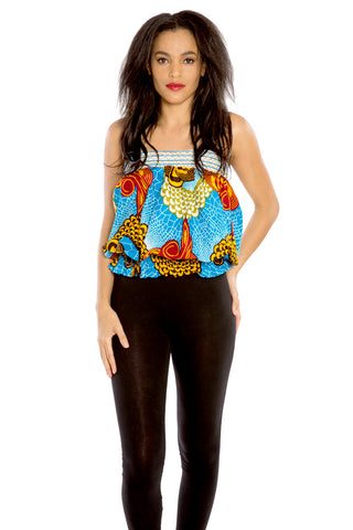 Authentically Sassy Chic African Print Skirt