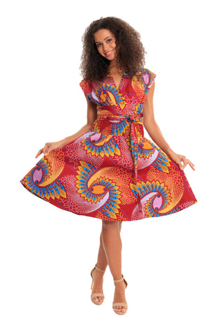 Be YOU African Print Convertible Dress