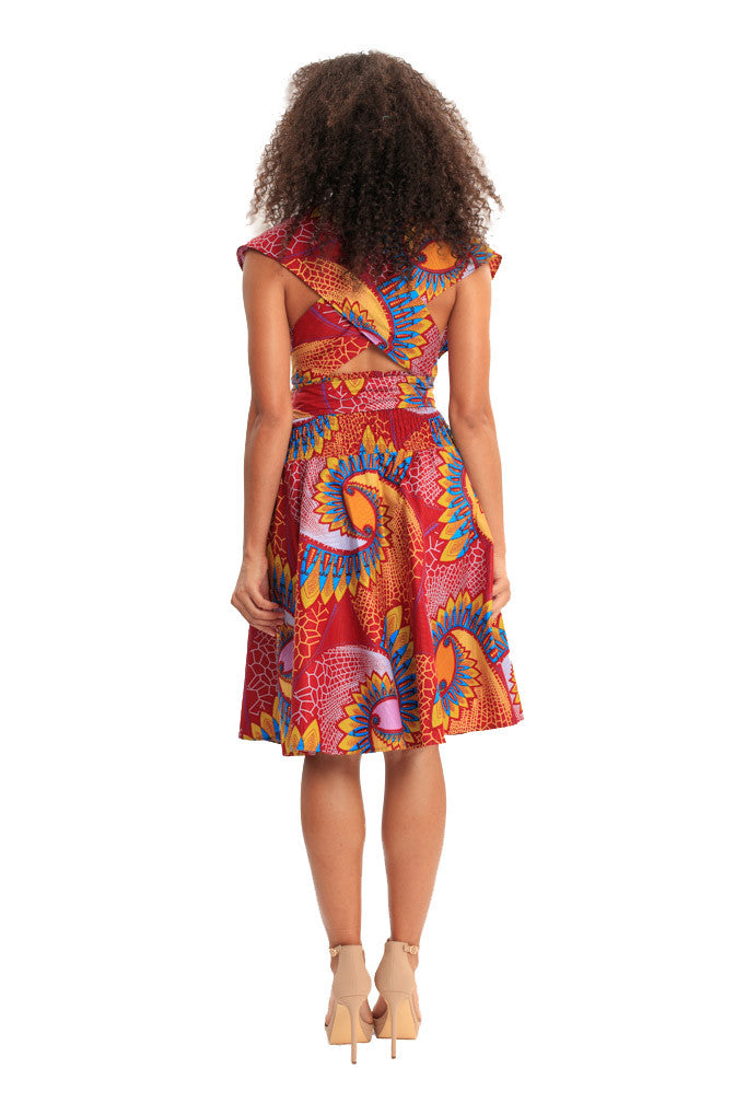 african dresses infinity dress african print women halter wrap dress fashion wax and wonder