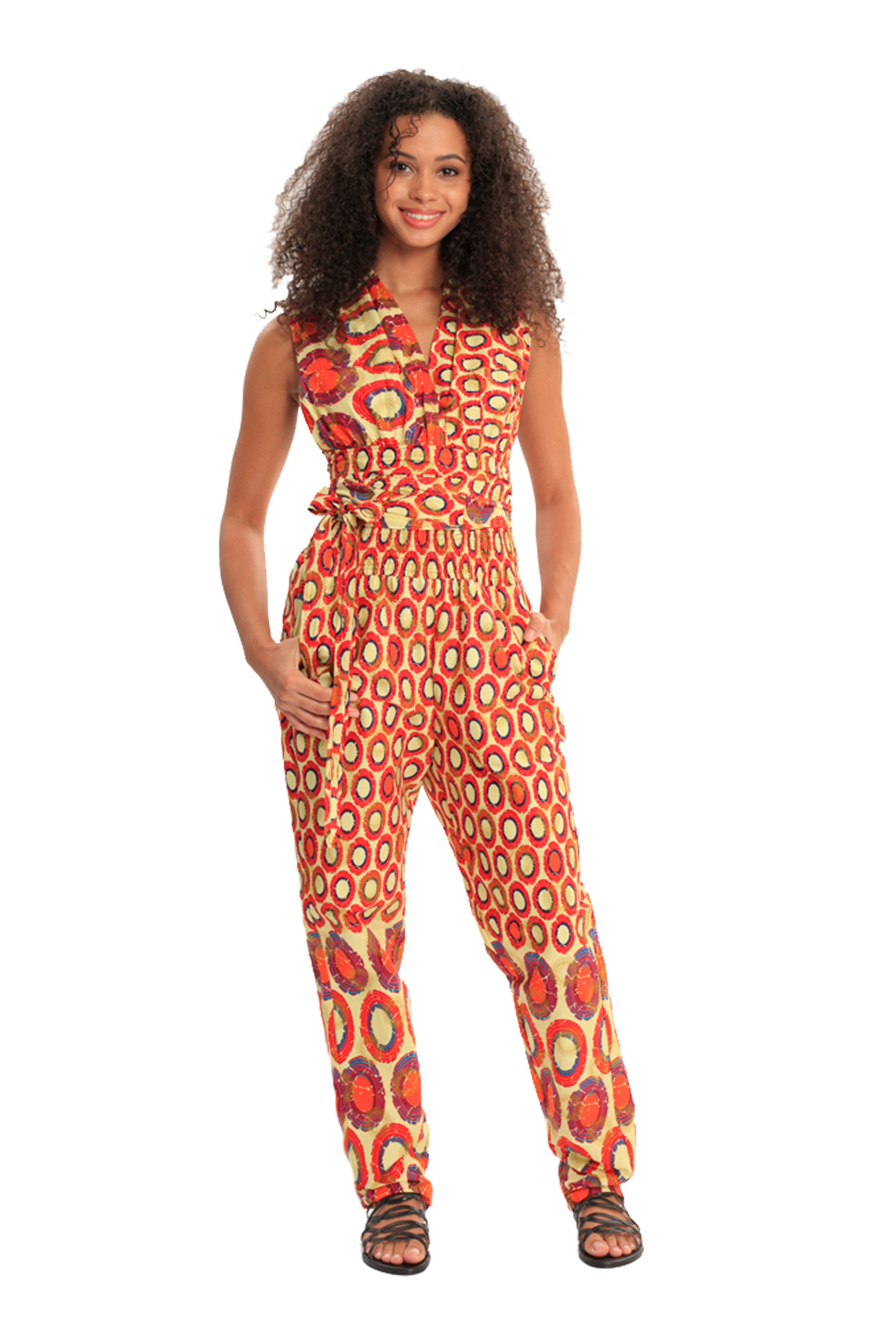 African Print Convertible BeYouTy Jumpsuit