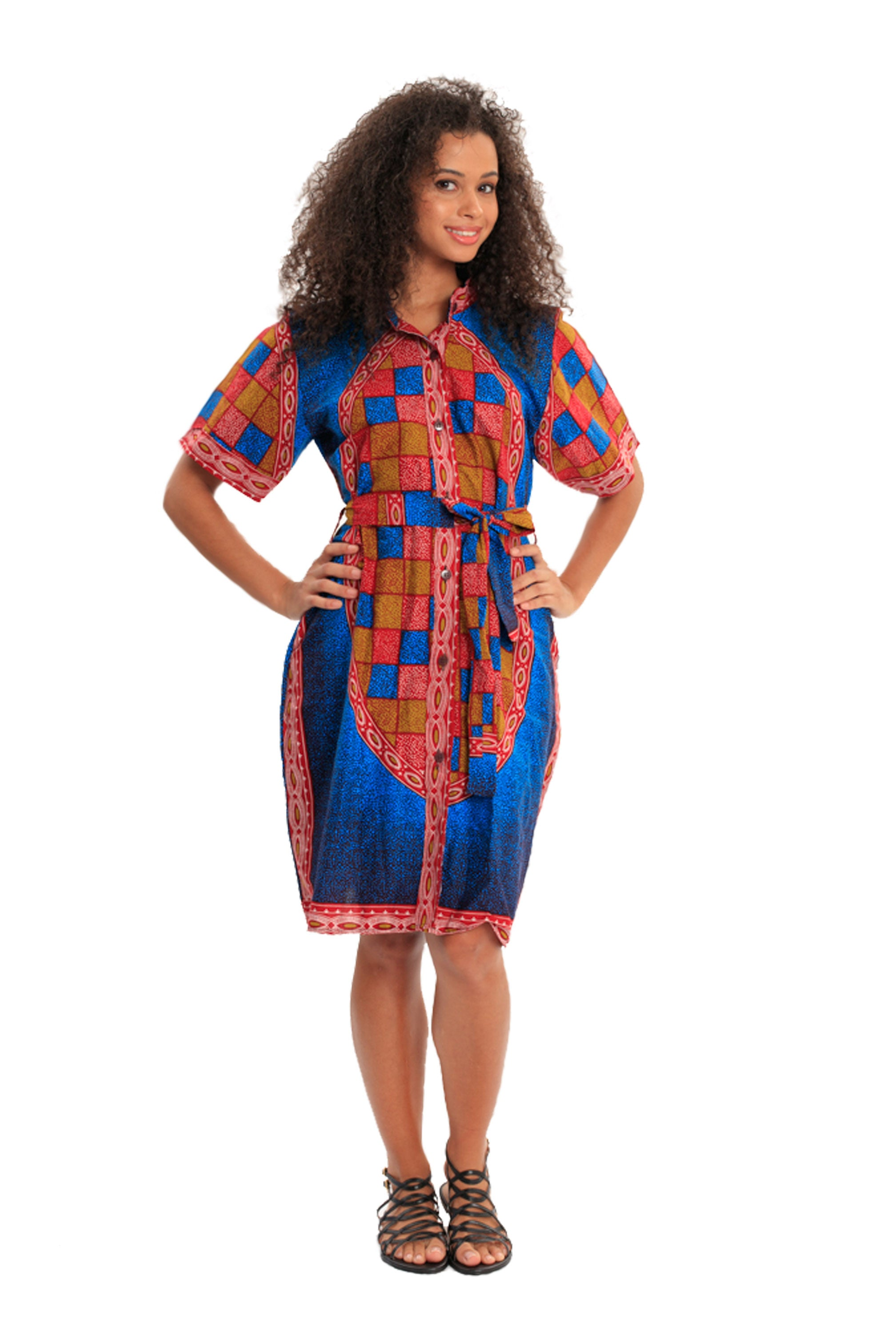 Dressed For Magic African Print Knee-Length Dress