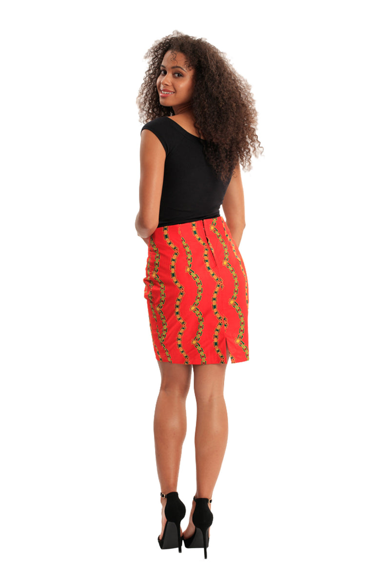 Flatter Me Perfect African Print Pencil Skirt