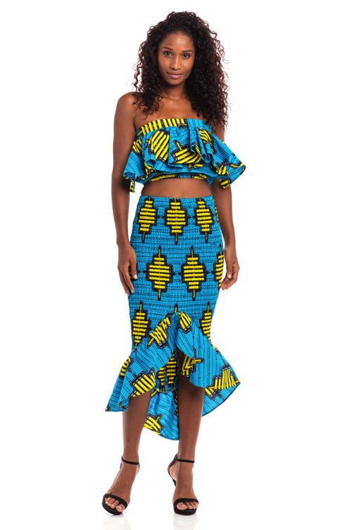 Radiant Smile African Print Skirt