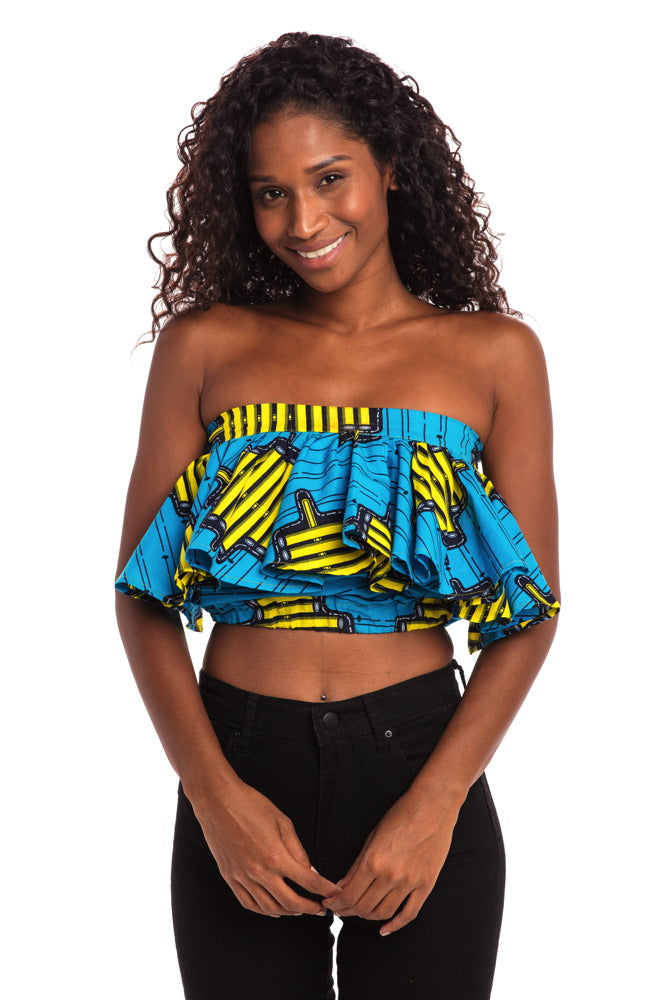 Blue Skies African Print Convertible Top