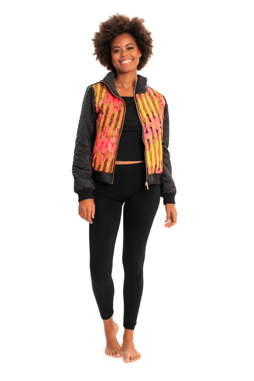Take Flight Bomber African Print Jacket