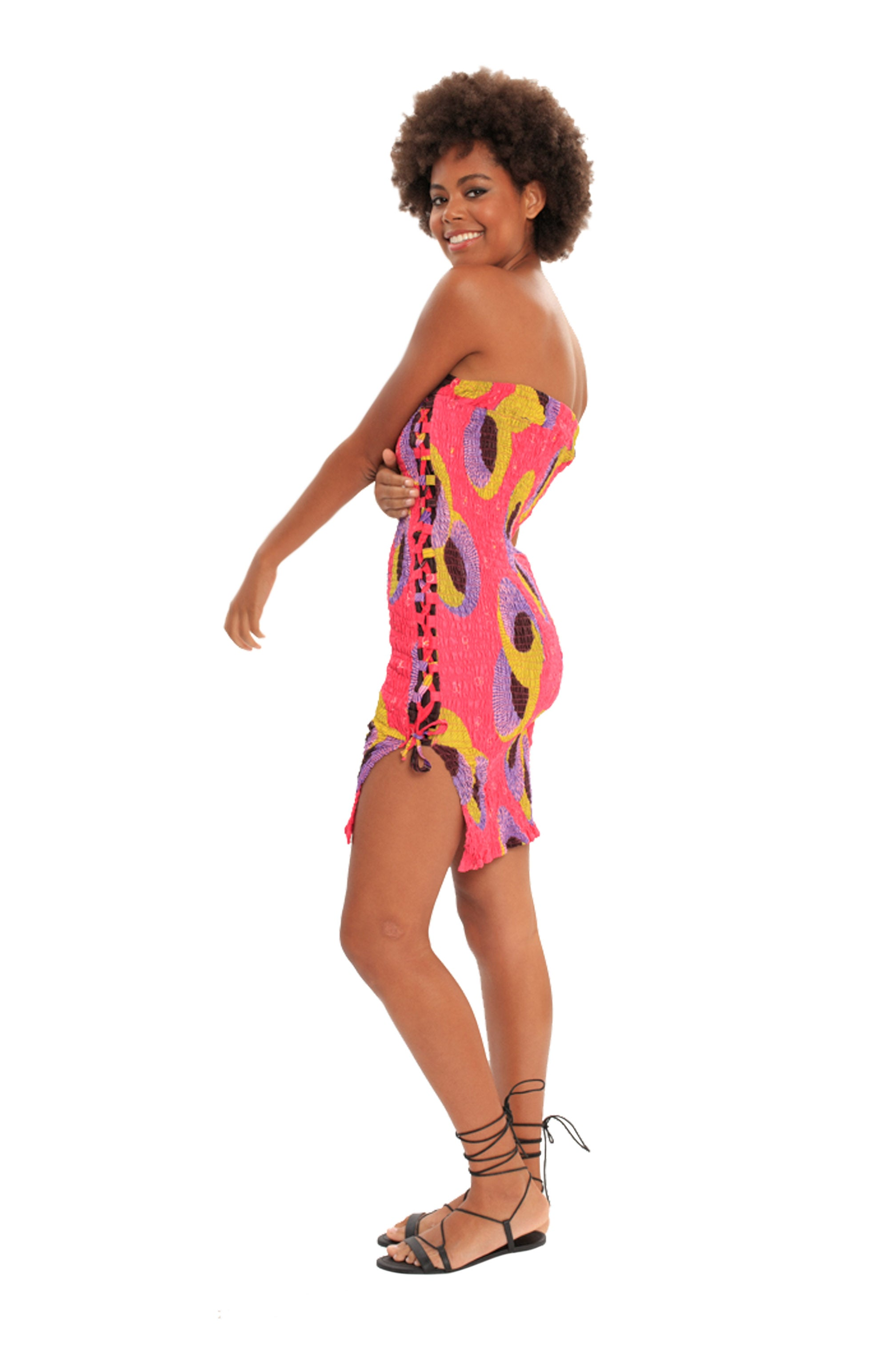 Keep Smiling Corset All in One African Print Skirt/Dress