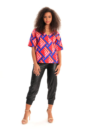 My Style Endures African Print Wrap Top