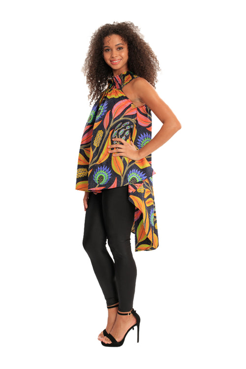Birds of Paradise African Women's Print High Low Top