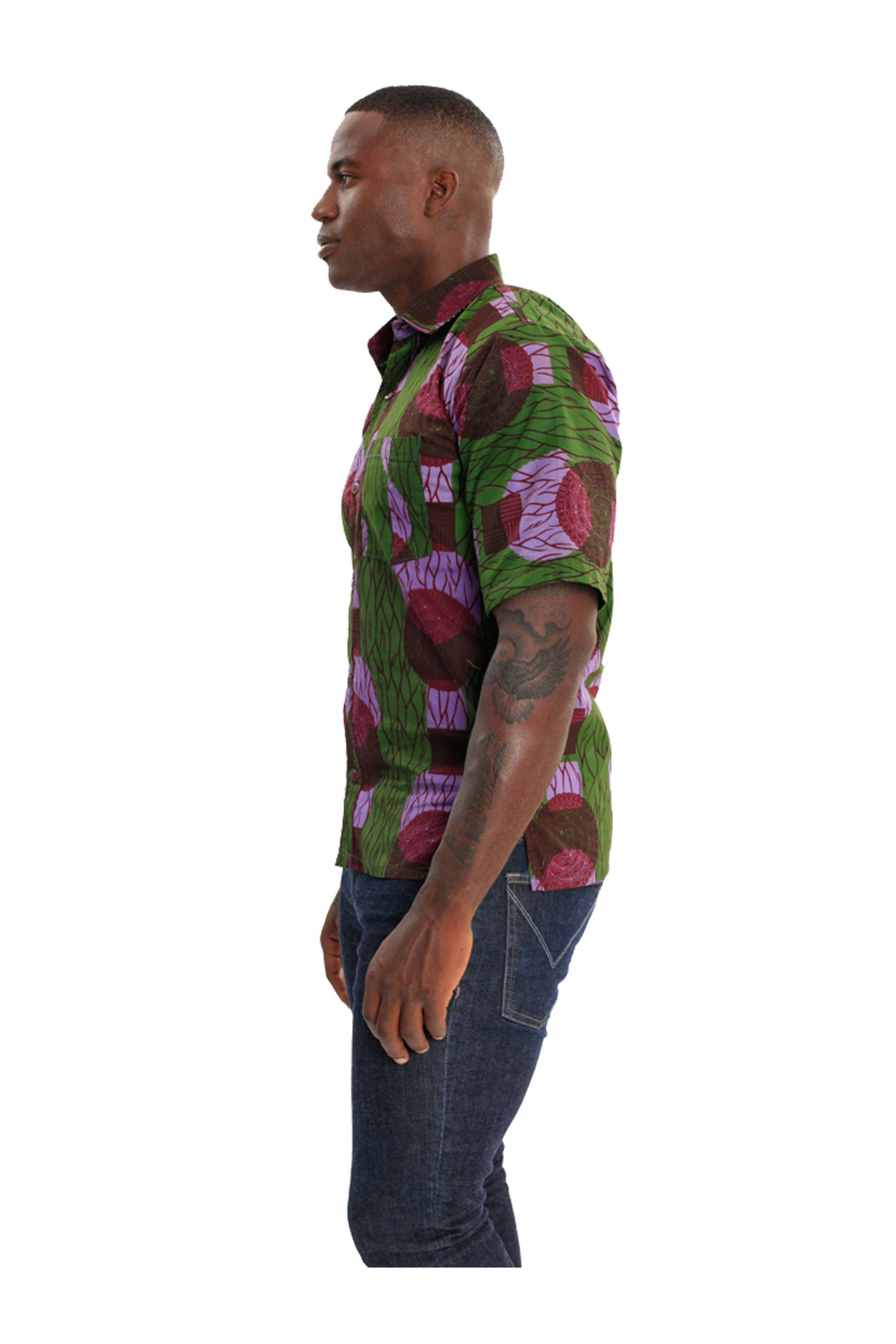 Real Men Wear Color African Print Top