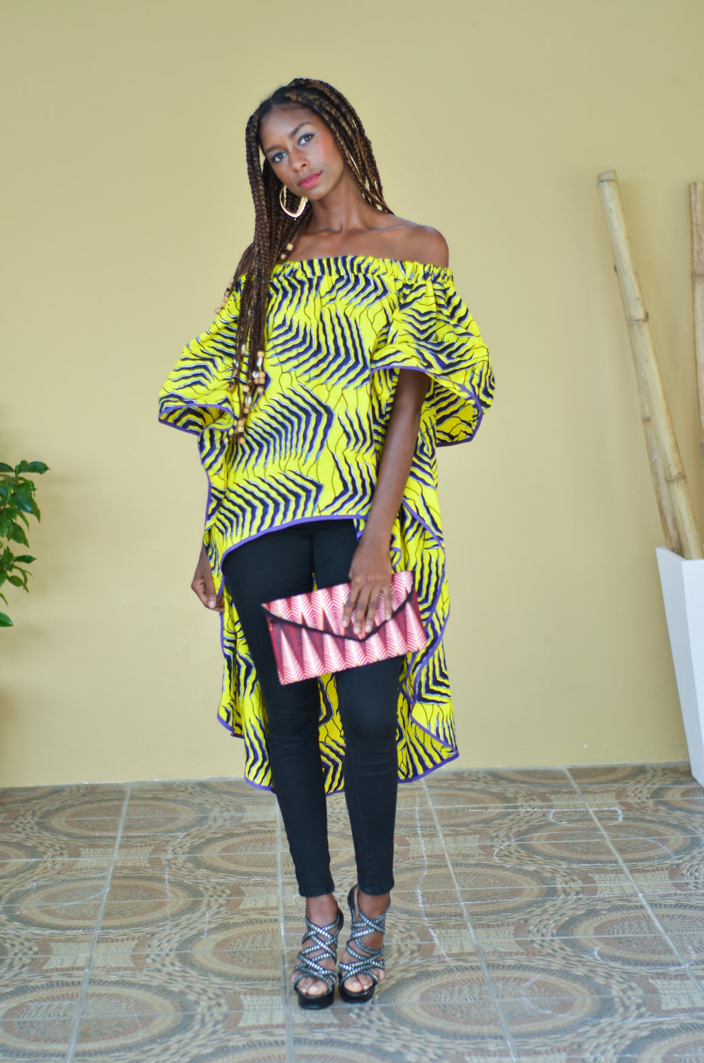 ON THE GO African Wax Print Clutch