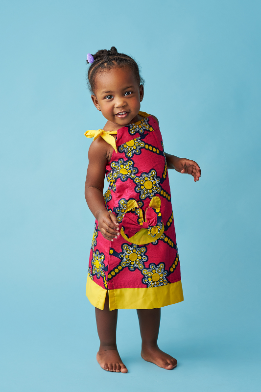 african girl dresses african print kids fashion wax and wonder