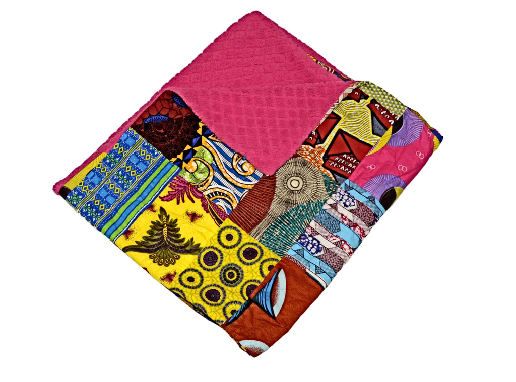 COZY PATCHES OF LOVE African Throw