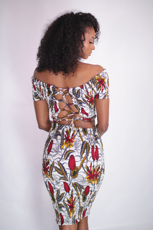 African Print Gifty Corset Top
