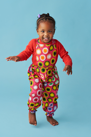 african girl jumpsuit african print kids fashion wax and wonder