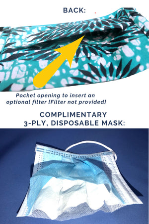 """Amani"" Reusable Unisex African Print Face Mask"