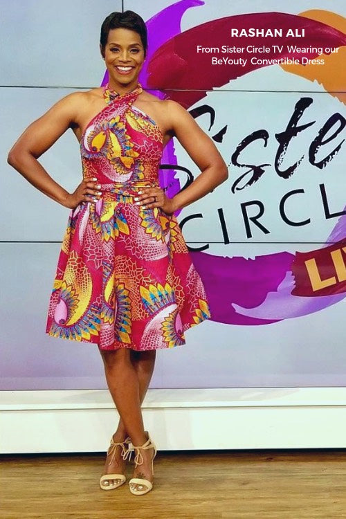 rashan ali sister circle tv african dresses infinity dress african print women halter wrap dress fashion wax and wonder