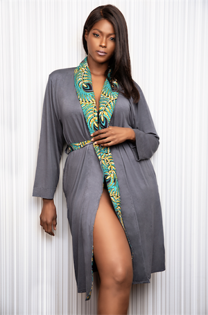 Just Right African Print Robe