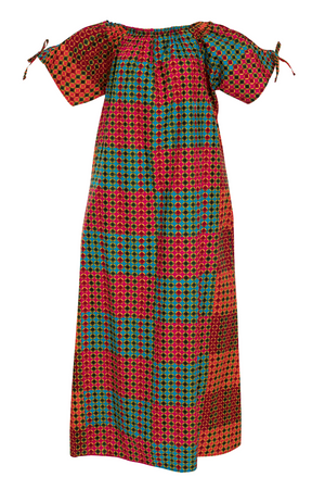 Just Lounging African Print Off Shoulder Flowy Maxi Dress