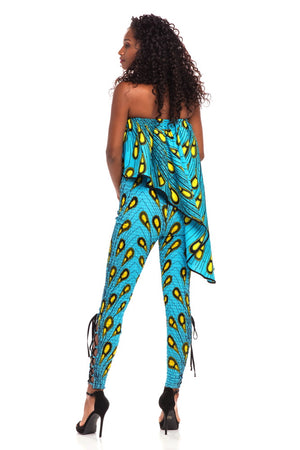 Weekend Magic African Print Smocked Jumpsuit