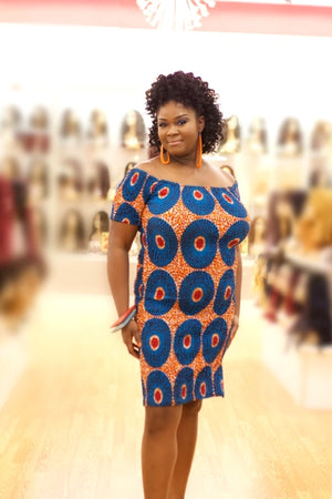 Sophisticated Mama African Print Body-Kind Dress