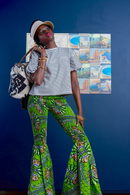 Limpopo (Let's Have Fun) African Print Bell-Bottom Pants