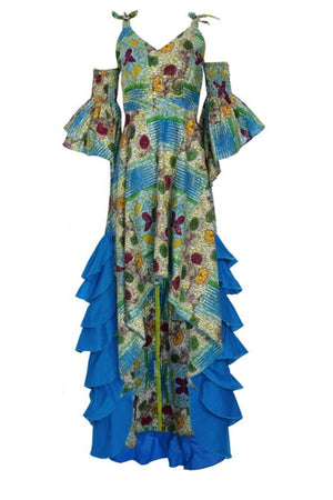 Regal Reign Gown African Print Dress