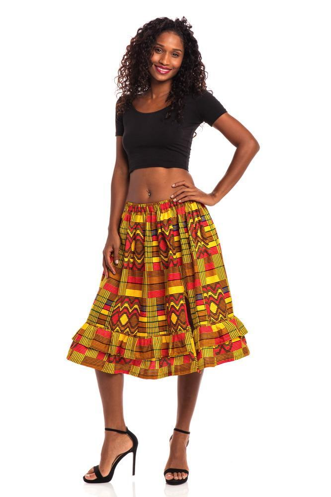 Vacation Vibes African Print Skirt