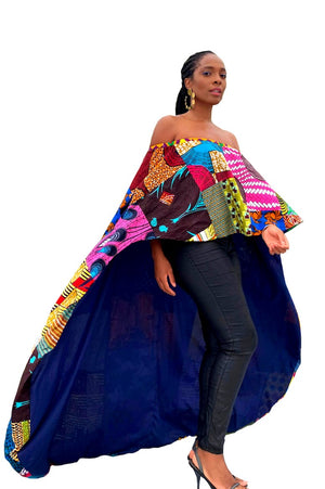african patch top off shoulder wax and wonder
