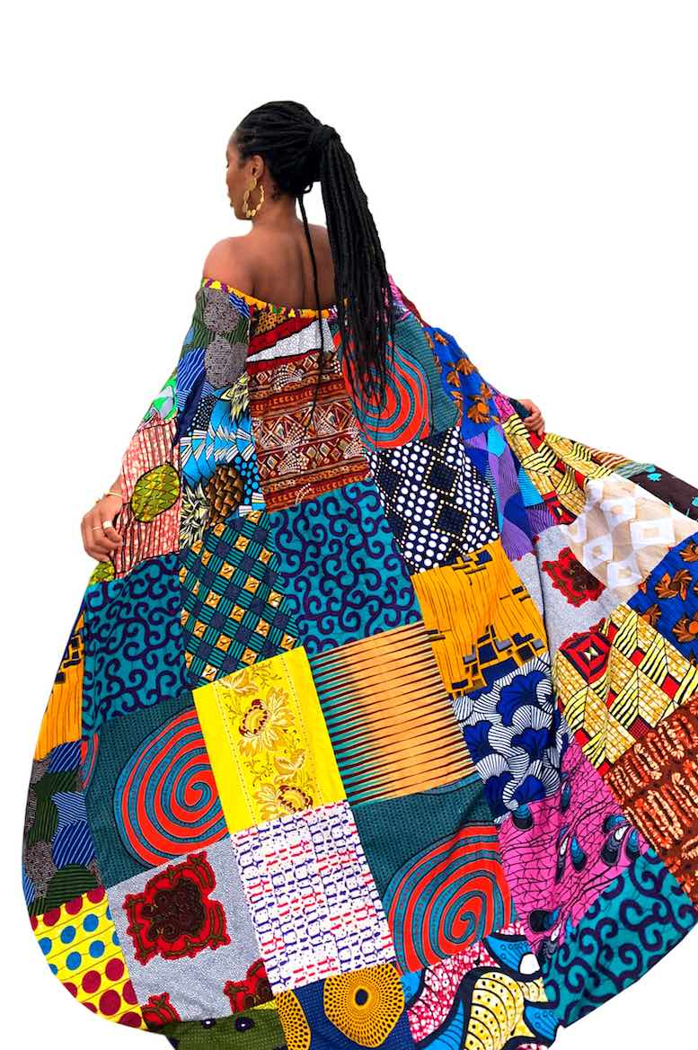 african sustainable fashion top wax and wonder