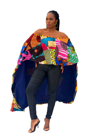 eco friendly African fashion top women wax and wonder
