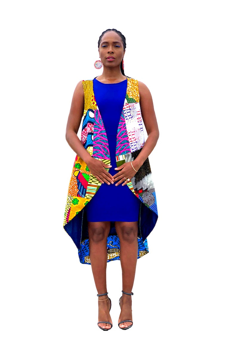 Superwoman African Print Patched Vest
