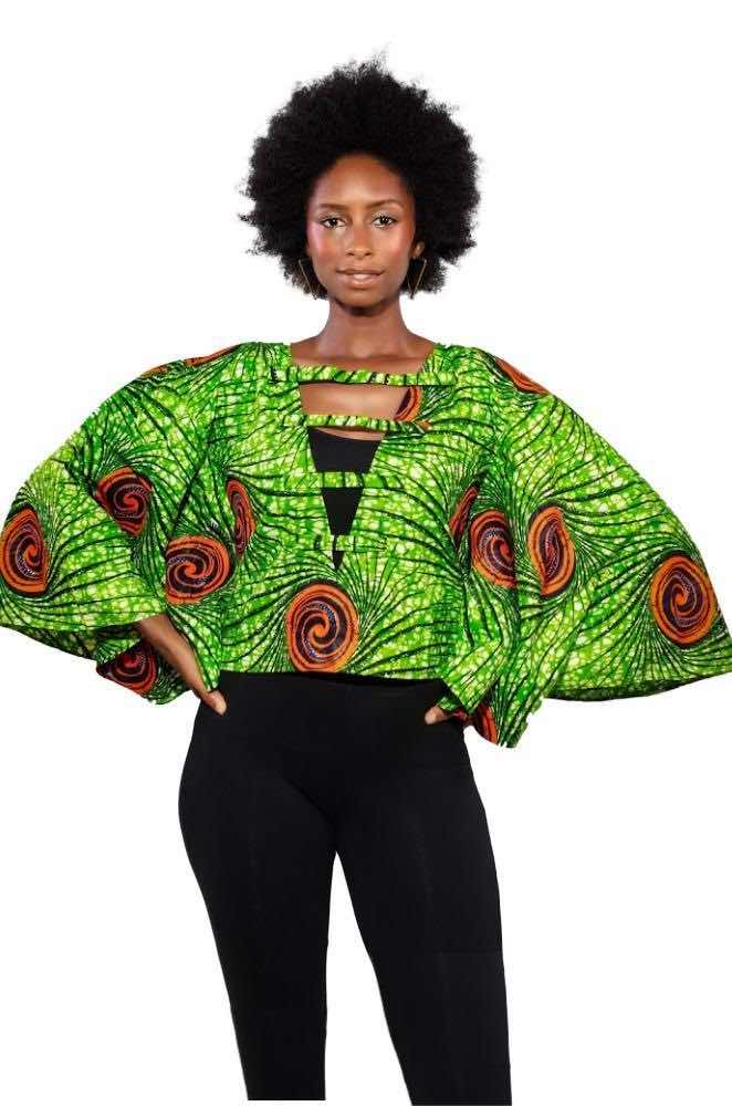 Unbothered African Print Off Shoulder Top