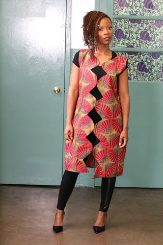 Cocolicious African Print - 2 Slit Skirt **MARKET DEAL** (Limited Prints & Sizes, Ships Immediately)