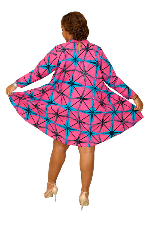 Elegant Ease African Print Dress
