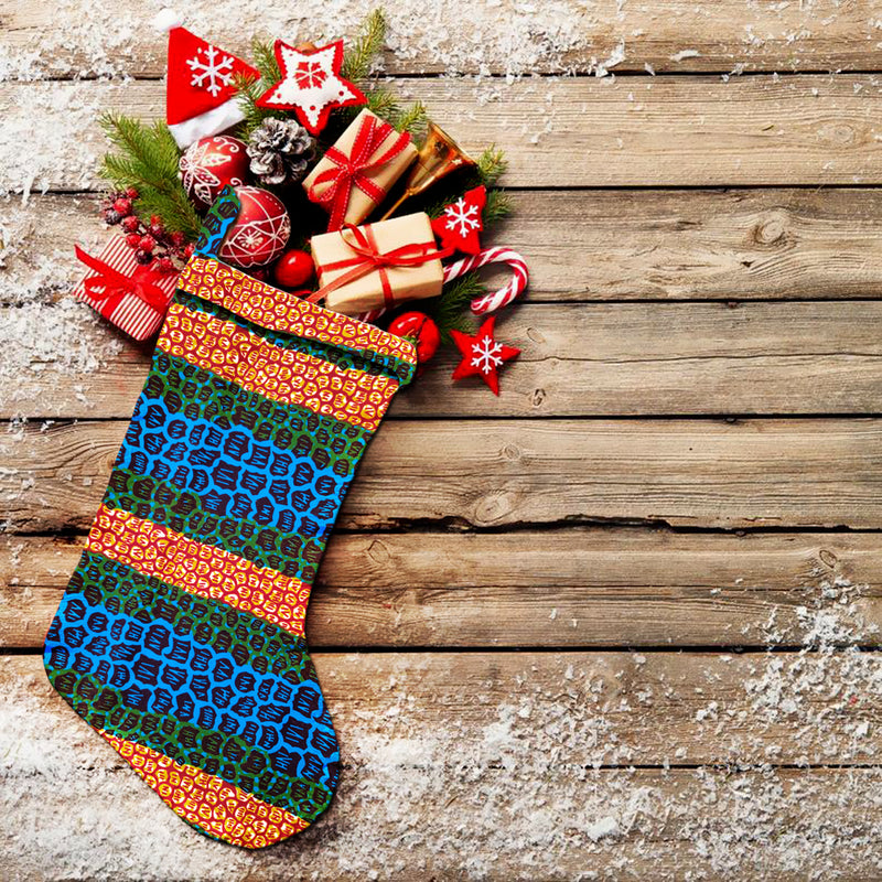 Christmas Stocking African Print