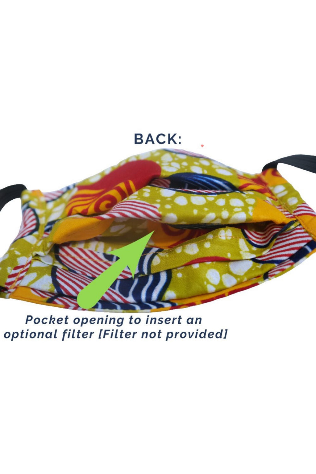 """Salama"" Reusable African Print Face Mask - For KIDS"