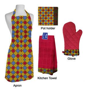 Kiss the Chef Bundle - African Print Kitchen Accessories