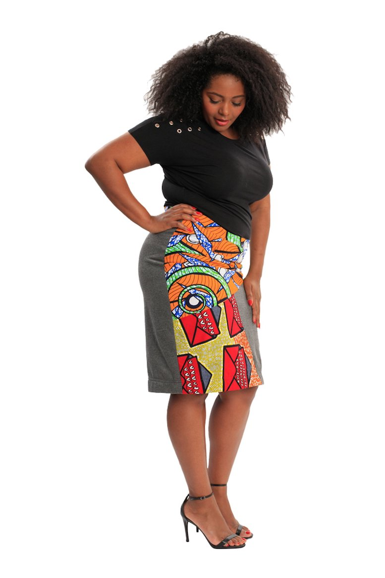 African plus size skirt wax and wonder