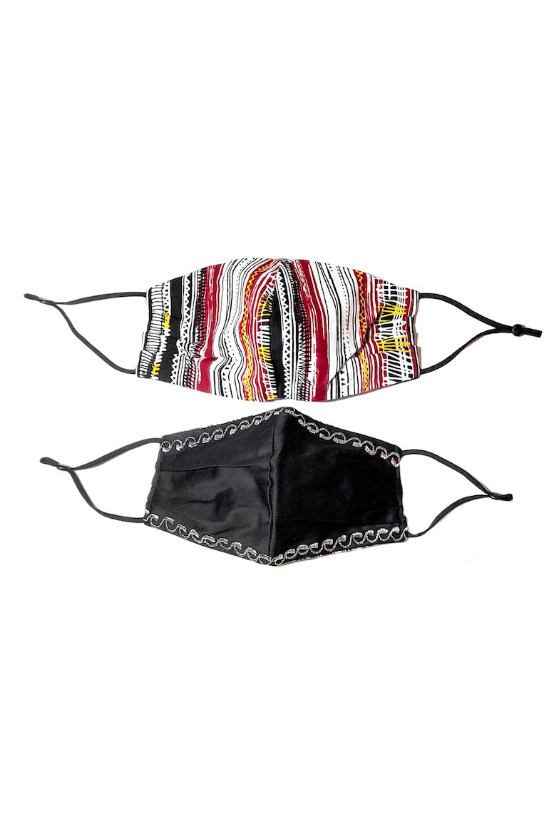 reversible face mask african print wax and wonde
