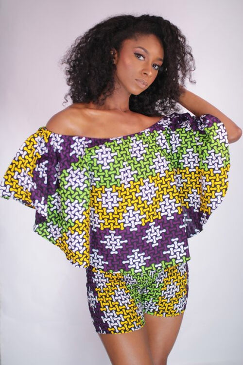 Flowering Beauty African Print Crop Top