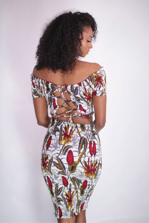 Smile With Me African Print Bodycon Skirt