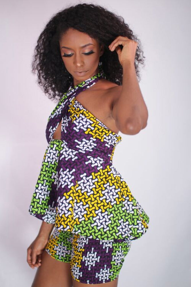 Just Chilling African Print Convertible Top