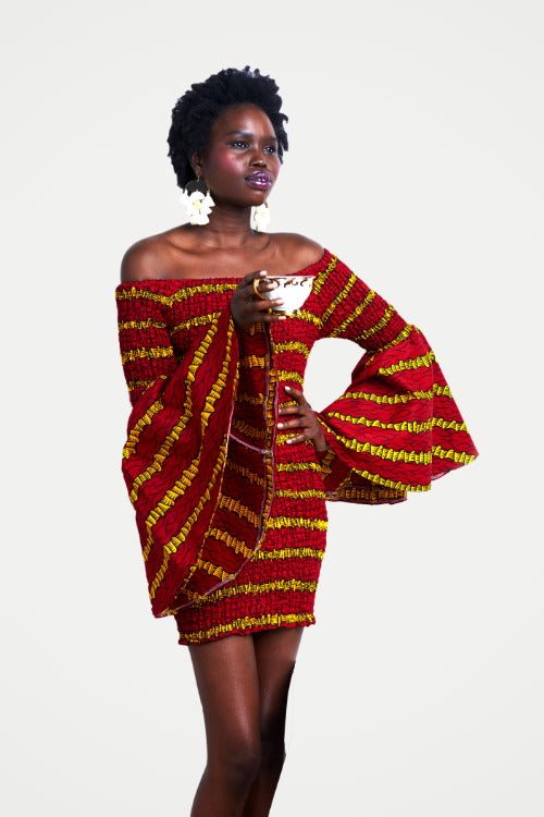 African Print Bodycon Dress - All Eyes on Me