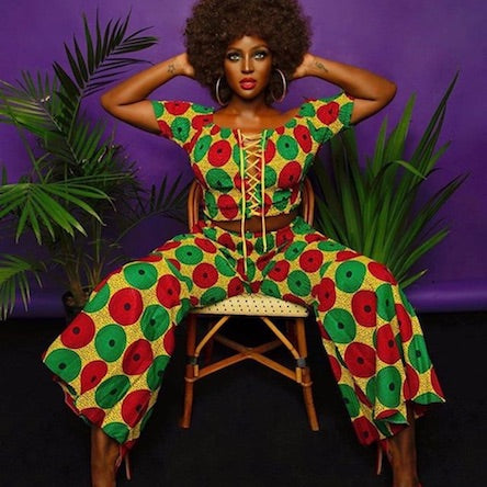 Amara La Negra Black owned business African Print Fashion Designer African tote bag perfect for the mom on the go