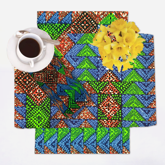 African Print Placemat Setting